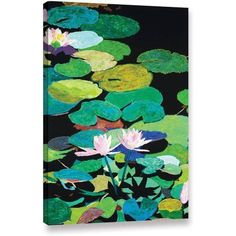 ArtWall Allan Friedlander Blair's Magic Pond Gallery-Wrapped Canvas, Size: 32 x 48, Blue