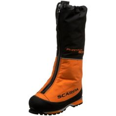 Scarpa Men's Phantom 8000 High Altitude Climbing Boot Scarpa. $898.95. Speed lacing, thermo liner, and waterproof T-Zipper. Premier high altitude double-boot with built-in gaiter. Comes standard with custom moldable thermo liners. Designed for the high Himalaya, Denali, and polar expeditions. Textile. Automatic and semi-automatic crampon-compatible. Vibram sole