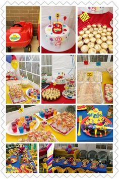 For Jacobs birthday Wiggles themed party Wiggles Party, Wiggles Birthday, The Wiggles, Third Birthday, 3rd Birthday Parties, Boy Birthday, Birthday Ideas, Birthday Cakes, First Birthdays