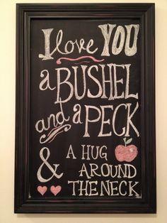 Valentine's Day Chalkboard - Bushel and a Peck