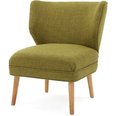 Dumont Mid Century Modern Fabric Accent Chair (Green) ($170) ❤ liked on Polyvore featuring home, furniture, chairs, accent chairs, green furniture, upholstery chairs, upholstery fabric chair, midcentury chair and green accent chair