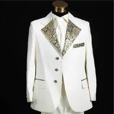 Mens White Vintage Edwardian Fashion Formal Clothing Dress Suits Tuxedos Wedding SKU-123115