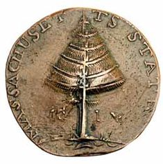 Massachusetts Pine Tree Penny, designed and engraved by Paul Revere (1776)