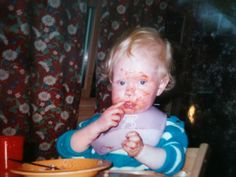 Eating all by my self. Heidi (1)