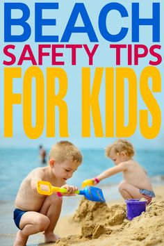 These beach safety tips for kids will help you keep your kids safe and having fun any time you decide to brave the beach!