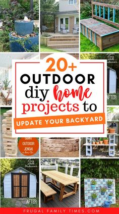 A fabulous collection of DIY backyard projects! This post is all about cool backyard ideas that you can do yourself. We've compiled a collection of ideas to inspire you - from DIY garden decor to yard games to DIY outdoor furniture. #outdoorprojects #DIY #backyard Backyard Projects, Outdoor Projects, Backyard Patio, Backyard Landscaping, Home Projects, Backyard Ideas, Outdoor Ideas, Free Deck Design Software, Outdoor Console Table