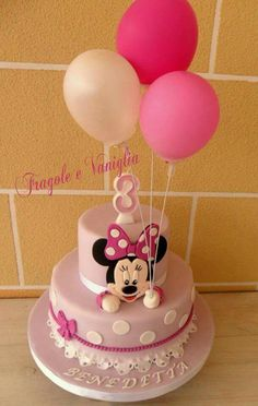 Cupcakes fondant kids minnie mouse 43 ideas for 2019 Bolo Da Minnie Mouse, Bolo Mickey, Minnie Mouse Birthday Cakes, Minnie Cake, Mickey Cakes, Mickey Mouse Cake, Birthday Cake Girls, Birthday Cupcakes, Mickey Birthday