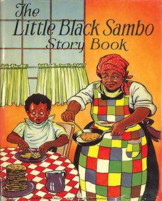 """Little Black Sambo""Book, by Helen Bannerman Vintage Advertisements, Vintage Ads, Vintage Black, Vintage Posters, African American Books, Black Artwork, Little Golden Books, Vintage Children's Books, Black"