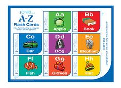 These bright and colourful alphabet flash cards are a great handy resource, and are perfect for you and your child to play with together. Your child will learn the alphabet from a-z! Please ensure that ALL cutting out is performed with an adult!