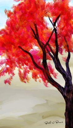 Red Tree Elizabeth Barros Pinturas