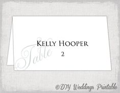Whimsical Vines Wedding Place Cards Microsoft Word Template