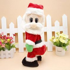 Christmas Electric Music Swing Buttocks Santa Claus Doll 2017 Christmas Decorations For Home Children Toys Xmas Gifts Navidad Christmas Dance, Christmas Snowman, Holiday Ornaments, Christmas Humor, Christmas Decorations, Holiday Decor, Holiday Fun, Great Christmas Presents, Presents For Kids