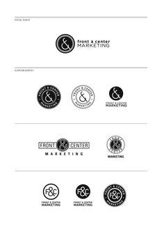 logo design for Front & Center marketing