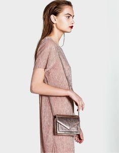 Pull&Bear - mulher - novidades - novidades - mini mala a tiracolo de festa rosa - 1-248 - 14125214-V2017