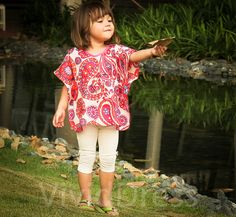 Toddler kaftan caftan kids top red size 3T age 2436 by VividDress, $15.00