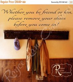 Remove Shoes Decal 3 Remove Shoes Wall by RoyceLaneCreations