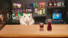 After a long day of managing grave sites, cemetery worker 'Kawanabesatou' goes to his favorite bar for a drink – albeit a tiny bar, and one that is managed by a hamster! In his spare time, 'Kawanabesatou' turns his pet hamsters into little bartenders by placing them in dioramic scenes. Here, it appears they are […]
