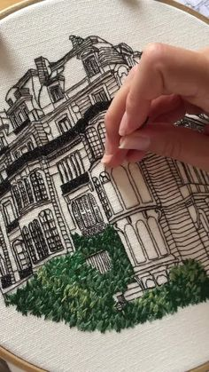 Embroidery of Rue Rembrandt, Paris. Join our free Embroidery Library- Embroidery of Rue Rembrandt, Paris. Join our free Embroidery Library- Embroidery of Rue Rembrandt, Paris. Join our free Embroidery Library- Hand Embroidery Patterns Free, Hand Embroidery Videos, Blackwork Embroidery, Embroidery Stitches Tutorial, Flower Embroidery Designs, Creative Embroidery, Simple Embroidery, Hand Embroidery Stitches, Learn Embroidery
