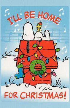 I'll be home for Christmas - Snoopy ! Diy Christmas Gifts, Christmas Home, Christmas Cards, Christmas Printables, Christmas Wishes, Vintage Christmas, Merry Christmas, Peanuts Christmas, Charlie Brown Christmas