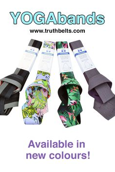 Have you seen the latest YOGAband colors just added to our collection? Find them at http://www.truthbelts.com/product/yogaband-yoga-belt/ $22.00  One size fits all yoga mats :)