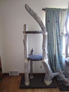 Cascadia Pet Furniture, this is cool, there's plenty of driftwood at the beach near me, think my fuzzies would like this Furniture Near Me, Pet Furniture, Leather Furniture, Cheap Furniture, Painted Furniture, Outdoor Cat Enclosure, Living With Cats, Arts And Crafts House, Puppies And Kitties