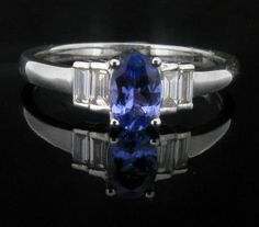 Tanzanite and Diamond Set Ring. - Geeves Jewellers - suppliers of watches and jewellery, London