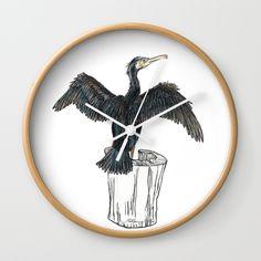 The Great Cormorant Wall Clock