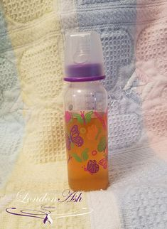 Baby Doll Bottle 10cm 2 pcs Plastic immitation toy filled with juice and milk