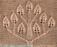 Candle Tree - Knittingfool Stitch Detail