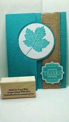 Goin' Over The Edge: Magnificent Maple and burlap ribbon flip card