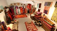 """The art of making felt products is closely related to the dwelling of the nomads, the yurt. Carpets of felt, decorated with ornaments, are called """"shyrdaks"""". Shyrdak is a very important element in the decoration of a yurt. It is usually located on the floor. Felts for shyrdaks are made from sheep wool, which is tightly rolled and painted in bright colors."""