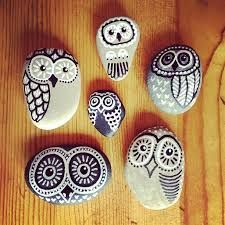 Image result for owl painted rocks
