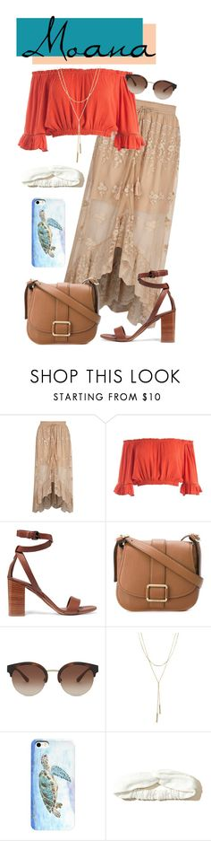 """Moana Disney Bound"" by gwynnieluree ❤ liked on Polyvore featuring River Island, Sans Souci, Vince, MICHAEL Michael Kors, Burberry, Bloomingdale's, Hollister Co., disney, disneybound and disneycharacter"