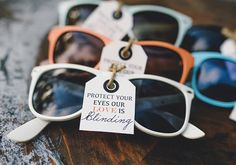 Get some sweet shades personalized for your big day.