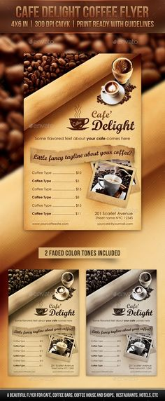Cafe Delight Coffee Flyer