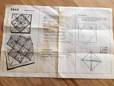 Vintage Cathedral Window Quilt Pattern Instructions #5643