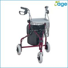 עגלת הליכה 3 גלגלים מגיע עם תיק, סלסלה ומגש