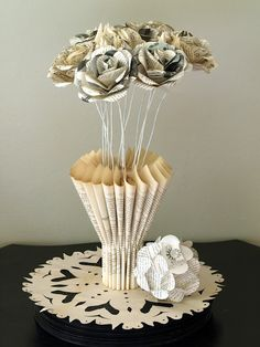 Book flowers and vase