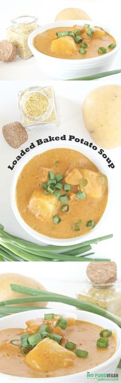 Totally Vegan Loaded Baked Potato Soup | It's thick, creamy, rich, and delicious - basically there is nothing NOT to love about it! From: The No Fuss Vegan