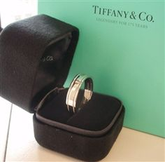 Tiffany Co Platinum 6mm Double Milgrain Wedding Band Ring