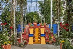 A representation of the pyramid at the Casa Azul on exhibit at the New York Botanical Garden. (Photo: Robert Benson)