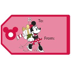 FREE Disney Christmas Printable - Mickey & Friends Gift Tag Stickers