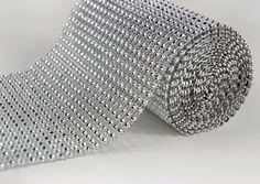 """Diamond Mesh Ribbon Wrap 4.75"""" width 6.5 feet $10.99 roll- Need at least 5 unless I cut them smaller"""