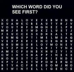 What is the first word you see?