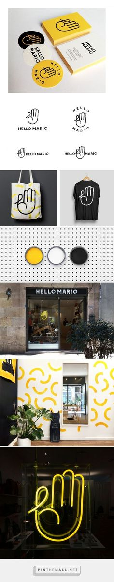 (35) Hello Mario Branding by Min / Branding / Ideas / Inspiration /  Color Accent / Yellow / Black / White / Pop / Shop / Urban / Industrial / Innovative / Bold /