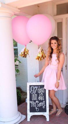 bridal shower decorations 39 perfect bridal shower ideas for 2019 17 Bridal Shower Chalkboard, Bridal Shower Signs, Chalkboard Wedding, Bridal Shower Party, Bridal Shower Snacks, Bridal Shower Balloons, Bridal Shower Backdrop, Chalkboard Ideas, Disney Bridal Showers