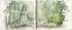 Clelia La Gioia - MoviMentiStatici: Il Bosco Sacro di Bomarzo - 48th Sketchcrawl