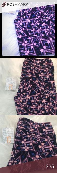 New TC Leggings Black background with pink, purple & gray aztec print. BNWT  ⭐️💥🍒 buy with confidence 🌟⭐️💥  only the best for my poshkrew! Love my customers to the 🌙 you & lula are the reason I get to see my kids grow up and do what I love! I owe it all to you 🥂🍭🌎💕 LuLaRoe Pants Leggings