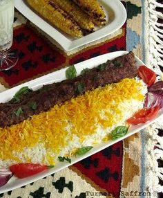 Kabab Koobideh - Persian Grilled Ground Lamb On Skewers