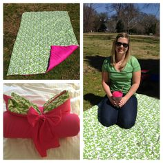 DIY Waterproof Picnic Blanket  http://rebekahsramblings.com/2013/03/18/diy-waterproof-picnic-blanket-revisited/  waterproof alternatives to vinyl and low and behold a google search lead me to PUL fabric. PUL is used as a utility fabric but also for baby supplies such as cloth diapers.  PUL is waterproof, thinner, and much easier flexible to sew with than vinyl.